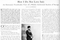 E. E. Cummings's Disenchantment with Mussolini-Era Italy   Central New York Traveler   Scoop.it