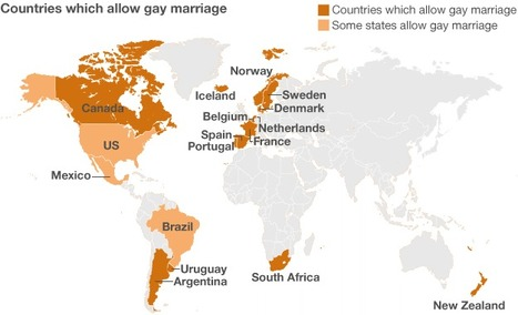 Gay marriage around the world: The countries which allow it | LGBT News & Entertainment! | Scoop.it