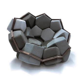 Rendering Crystal Into Wood and Upholstery: Quartz Armchair | Art, Design & Technology | Scoop.it