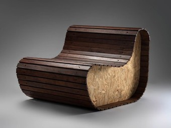 Really Cool Chair from Reclaimed Window Blinds + Table and Benches from Recovered Materials | designdrool | Scoop.it