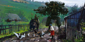 This Artist Paints Giant Killer Robots Into Scenes From the 1920s - Popular Mechanics | steampunk | Scoop.it