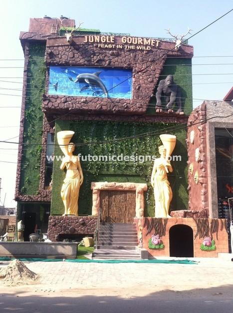 Jungle Gourmet, Jalandhar - Restaurant Designed with Quadruple Theme Tarka | Interior Designing Services | Scoop.it