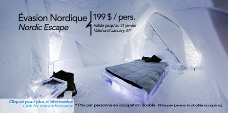Hotel de Glace — Quebec City's Ice Hotel | C RE- ACTIVE WORLD | Scoop.it