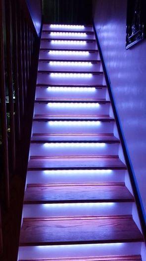 LED NeoPixel Motion Sensor Stair Lighting | Raspberry Pi | Scoop.it