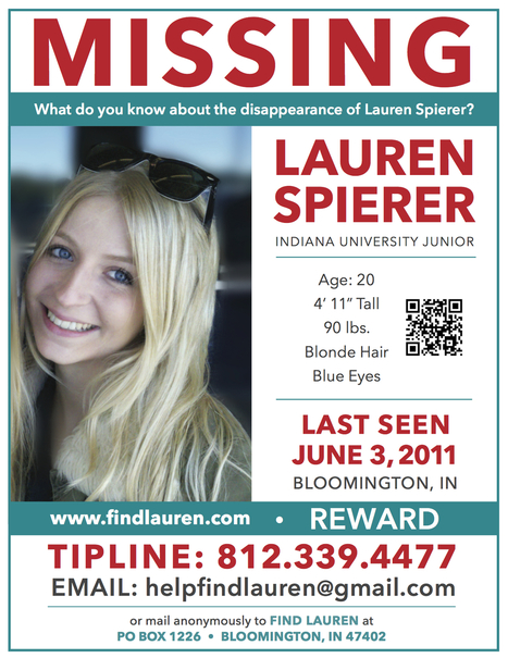 Detective: Don't give up on search for Lauren Spierer | Lauren Spierer | Scoop.it