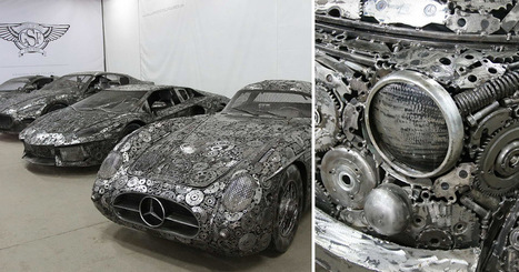 50 Artists Raid a Polish Scrapyard to Build a Collection of Recycled Metal Cars | Beautiful Things | Scoop.it