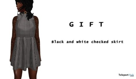 Black And White Checker Dress Gift by BADA | Teleport Hub - Second Life Freebies | Second Life Freebies | Scoop.it