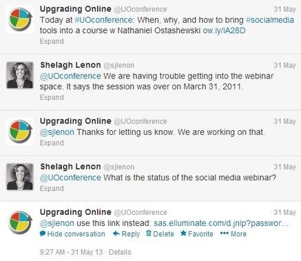Tweeting an event live   Upgrading Online   Scoop.it