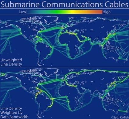 Maps - Density of submarine communication cable network | willircq | Scoop.it