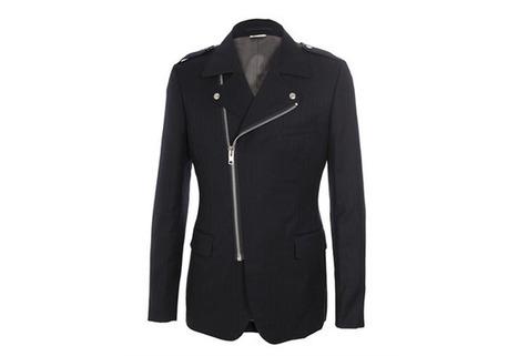 Comme Des Garcons Homme Plus Pinstriped Wool/Mohair Biker Jacket | Clothes Before Hoes | COMME des | Scoop.it