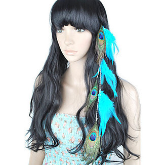 1 Pcs - Clip In Peacock Feather Hair Extensions – WigSuperDeal.com | Hair Extensions and Hairpieces | Scoop.it
