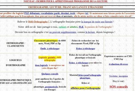 outils d'orthographe et lecture et FLE pour enseignants et élèves | FLE | Scoop.it