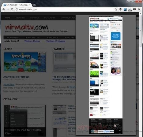 Capture Full Page Screenshots of Websites using Blipshot [Extension] | Le Top des Applications Web et Logiciels Gratuits | Scoop.it