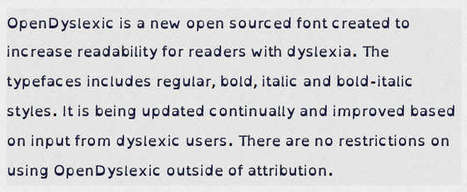 An Open Source Dyslexic Font - iProgrammer | Dyslexia Today | Scoop.it