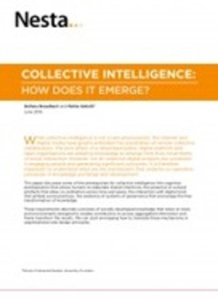 Collective Intelligence: How does it emerge? | Nesta | Collaborationweb | Scoop.it
