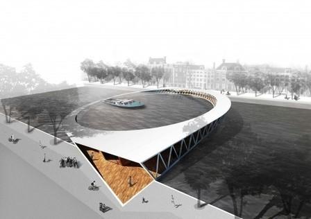 Amsterdam Iconic Pedestrian Bridge Competition Winners | ARCHIresource | Scoop.it