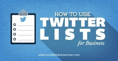 How to Use Twitter Lists for Business | | Internet Marketing | Scoop.it