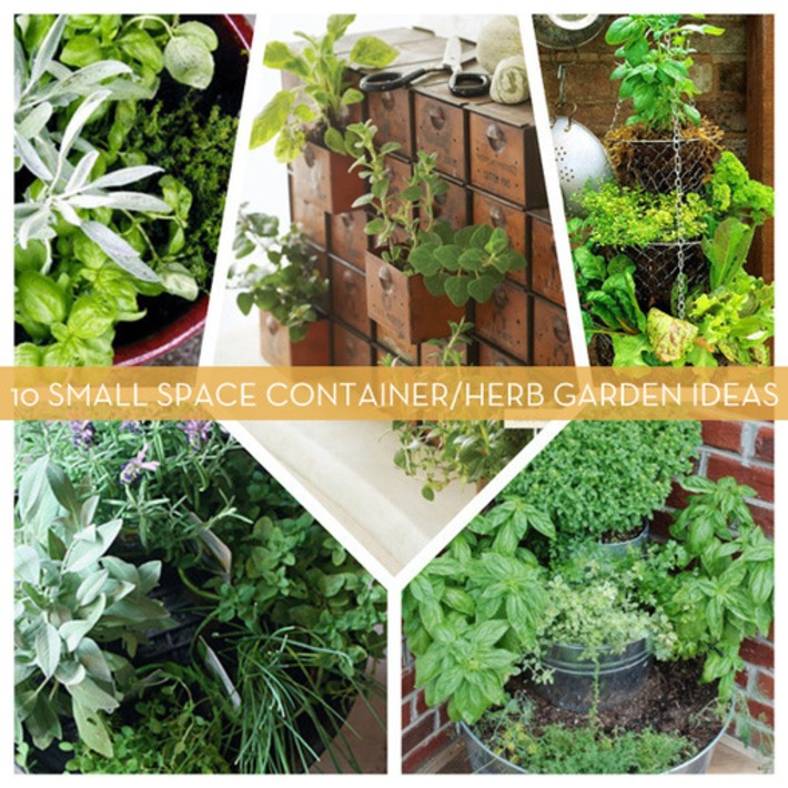 10 Small Space Container and Herb Garden Ideas | Container Gardening | Scoop.it