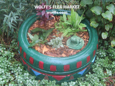 Wolff's Flea Market Blog: Flea Market Gardening: Recycled Tire Planter | Back Yard Garden Projects | Scoop.it