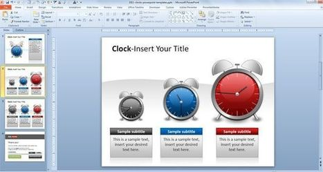 Clocks PowerPoint Templates   BCP Project   Scoop.it