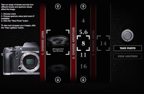 Fujifilm's releases interactive website that lets you test out X-mount lenses | Fujifilm X | Scoop.it