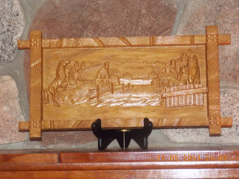 Horse Ranch Scene Wood Carved Wall Hanging From Solid Maple Hardwood | Handmade Quality Items | Scoop.it
