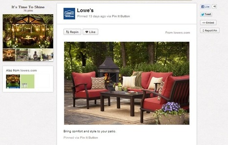 Social Media Marketing Case Study: Pinterest and Lowes | Everything Pinterest | Scoop.it