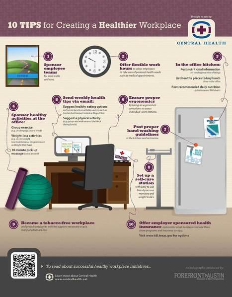 10 consejos para un lugar de trabajo saludable | Herramienta para la Gestion Integral | Scoop.it