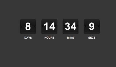 How to Code a jQuery Rolodex-Style Countdown Ticker | Web Developent | Scoop.it