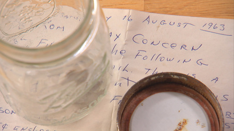 50-year-old message found in a jar on Jersey Shore | Strange days indeed... | Scoop.it