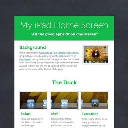 My iPad Home Screen   iPad   Scoop.it