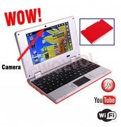 7 inch Slim Light Weight Trendy Mini Laptop DARK RED.   Camera Netbooks   Scoop.it