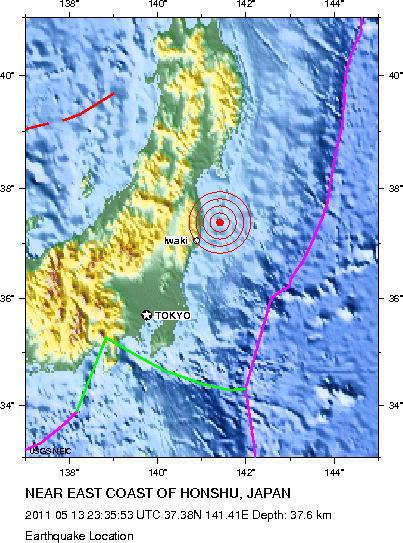 Un vendredi 13 au Japon ça tremble énormément 6.2 en magnitude | Japan Tsunami | Scoop.it