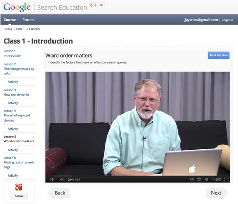 Reeder's Writings: Google Gives Good Online Course Design | CEET Meet (Jan.2013): Instructional Design & Improving Online Learning ~ David LeBanc | Scoop.it