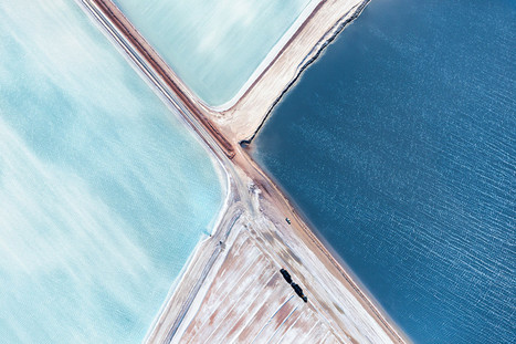 Fly Over Australia's Breathtakingly Blue Salt Flats | WIRED | Architectural & Design Solutions | Scoop.it