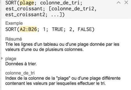 Gsheets : inverser l'ordre des valeurs d'une plage   Google Apps  (FR)   Scoop.it