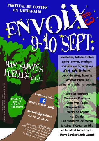 ENVOIX#3 festival de contes en Lauragais  - dans le village à Mas Saintes Puelles (11400) Vendredi 09 Septembre 2016 et Samedi 10 Septembre 2016   Castelnaudary Tourisme - infos   Scoop.it