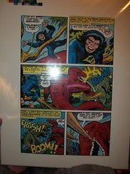 "DEVIL DINOSAUR # 1 pg 6 ACETATE JACK KIRBY / MIKE ROYER ART IN COLOR! | Jack ""King"" Kirby 