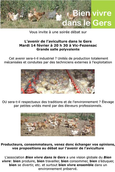 Poulets industriels : réunion publique à Vic-Fezensac - Bien vivre dans le Gers   Terroir   Scoop.it