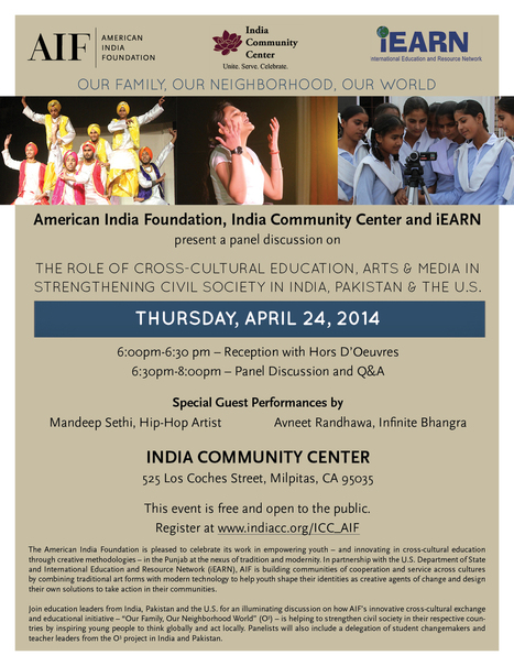 The Role of Cross-Cultural Education, Arts, & Media in Strengthening Civil Society in US, India, Pakistan | iEARN in Action | Scoop.it