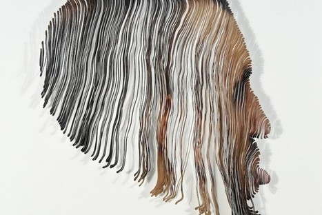 Hand-Cut Portraits Transform Human Faces Into Warped Sculpture [Pics] | Art Education, painting, drawing | Scoop.it