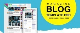 Premium Magazine Blog Template PSD for Free Download - Freebie No: 43 | Website Design Template PSD | Scoop.it