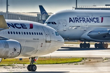 Photo: Airbus A340 and A380 in Paris | Aviation & Airliners | Scoop.it