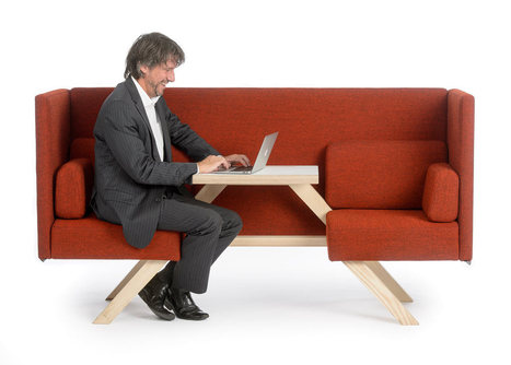 Seating That Can Be Used for Sharing, Chilling or Hiding - Design Milk | bureau : espace innovant | Scoop.it