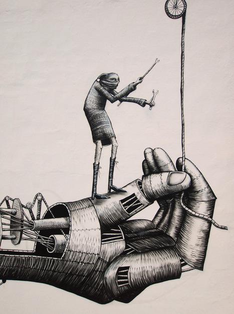 Phlegm's Latest Mural Works Hand in Hand - My Modern Metropolis | Street Art and Artists | Scoop.it