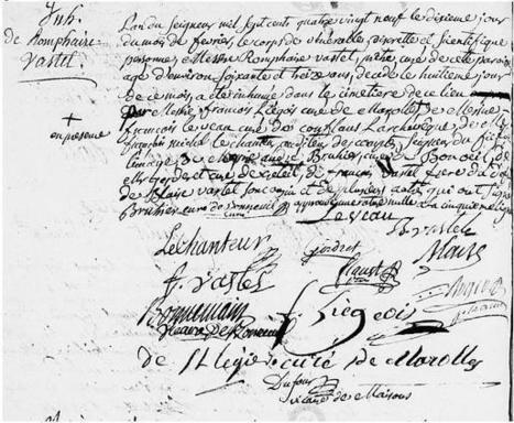 10 février 1789 - Inhumation de Romphaire Vastel, curé   CGMA Généalogie   Scoop.it