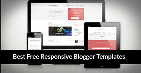 Comment on 20 Best Free Responsive Blogger Templates by Rizwan | Daily Design Notes | Scoop.it
