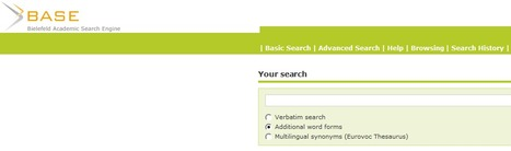 BASE (Bielefeld Academic Search Engine): Basic Search | Specialty Search Engines | Scoop.it