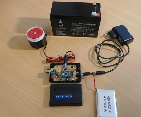 Manage a Wireless 120 dB Alarm Siren using an Arduino Pro Mini 3.3V and nRF24L01+ | Open Source Hardware News | Scoop.it