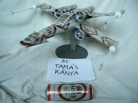X-Wing fighter made from beer-cans | Vidi Fashion Factory (VIFF) | Scoop.it